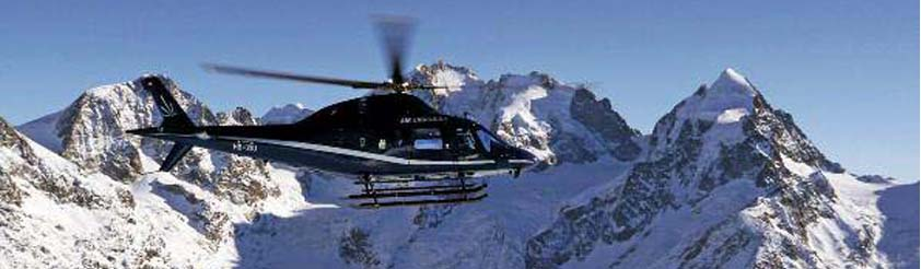 Saas Fee Helicopters - Helicopter Transfers, Airport Transfers, Sightseeing and Tourist Helicopter Flights and Tours